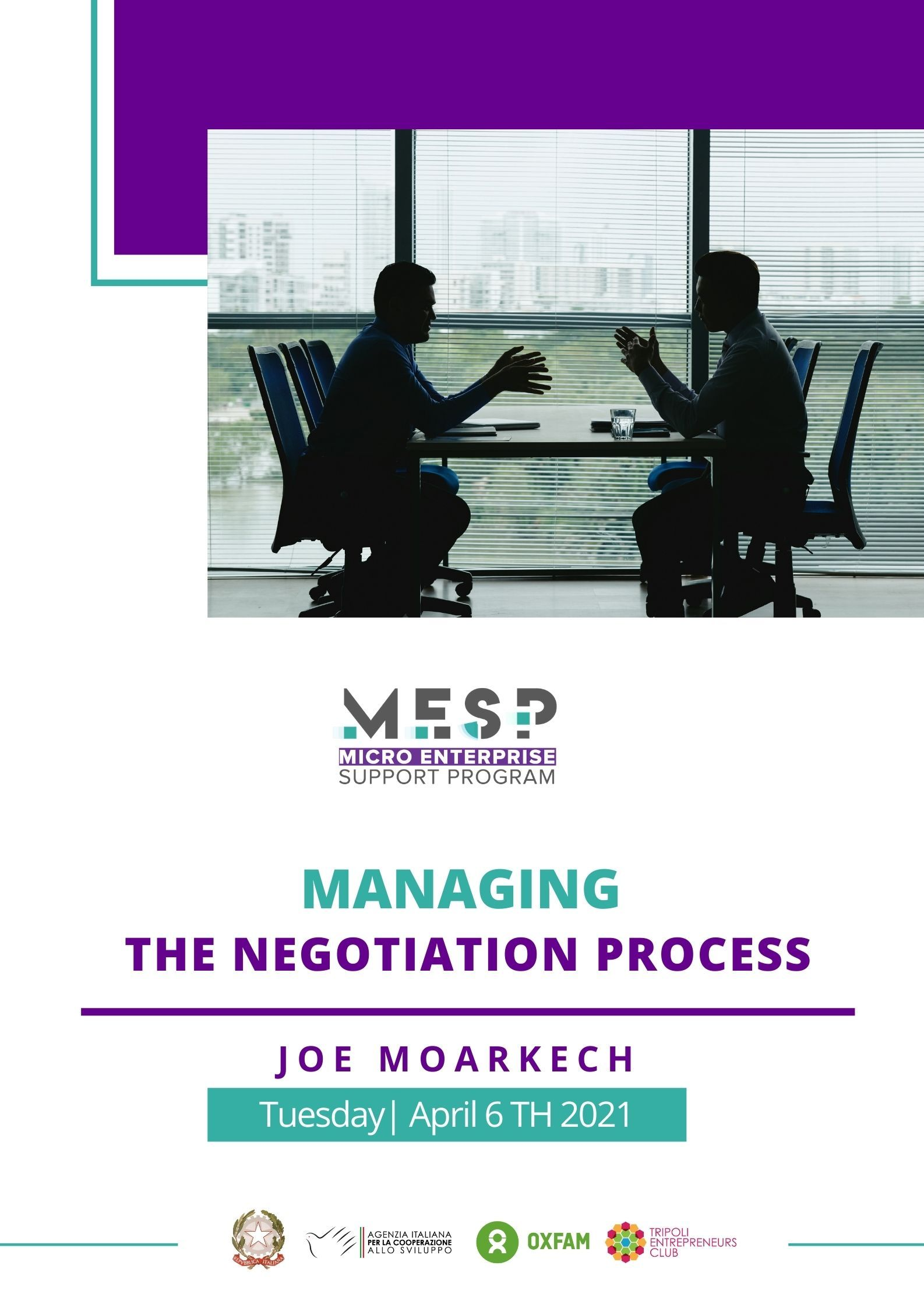 Negotiation WORKSHOP in North Lebanon