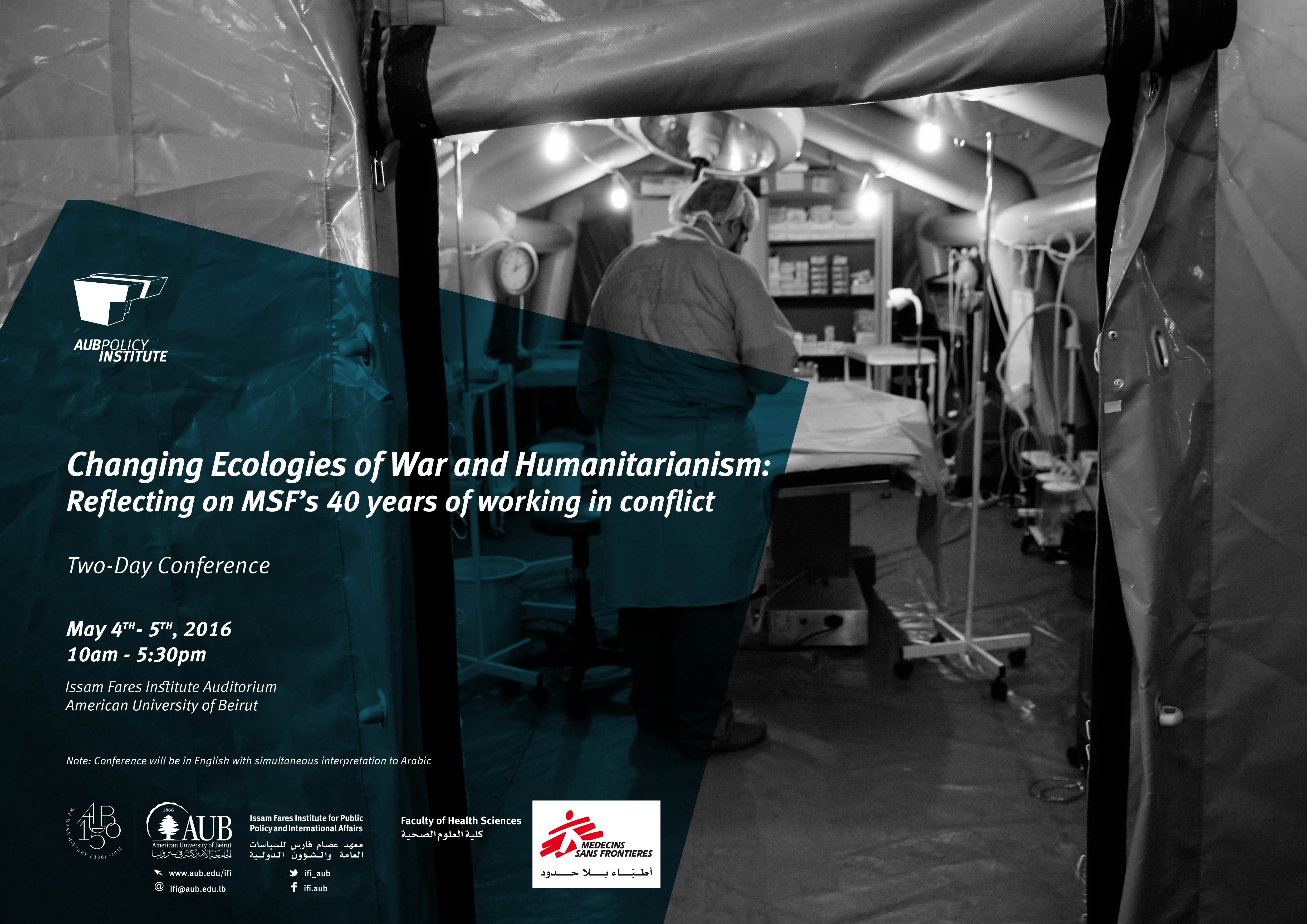 Changing Ecologies Of War And Humanitarianism: Reflecting On Msf's