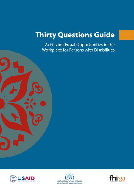 Thirty Questions Guide Achieveing Equal Opportunities In The Workplace For Persons With Disabilities