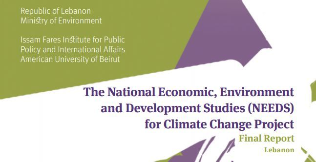 The National Economic, Environment And Development Studies (Needs) For Climate Change Project (Final Report) Lebanon - Ifi Report