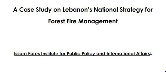 A Case Study On Lebanon'S National Strategy For Forest Fire Management | Ifi Research Paper
