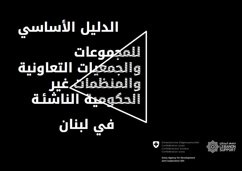 الدليل الأساسي للمجموعات والجمعيات التعاونية والمنظمات غير الحكومية الناشئة في لبنان