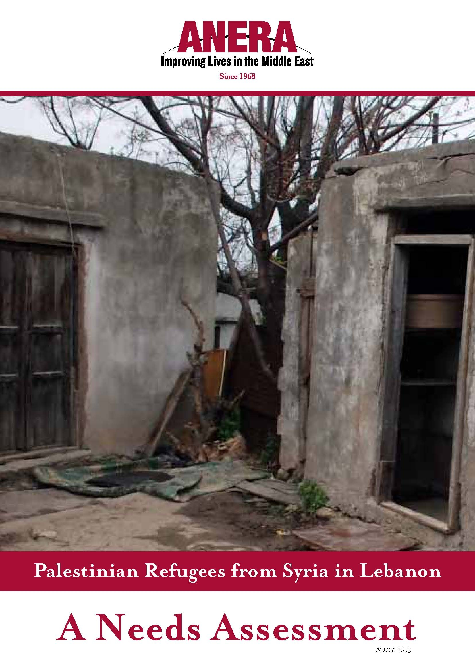 Palestinian Refugees From Syria In Lebanon - A Needs Assessment