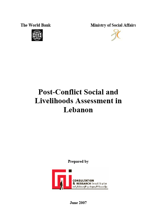 Post-Conflict Social And Livelihoods Assessment In Lebanon
