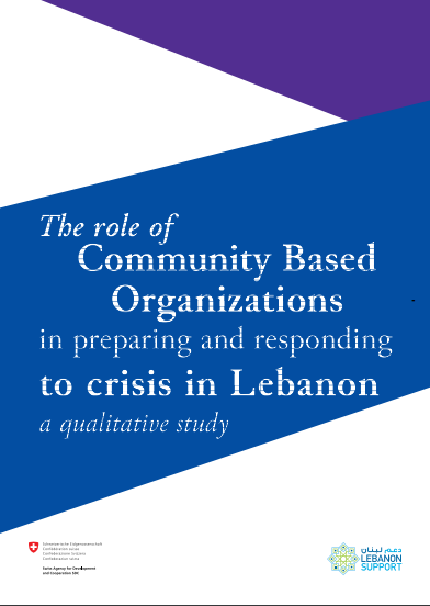 The Role Of Community Based Organizations In Preparing And Responding To Crisis In Lebanon, A Qualitative Study Primary Tabs