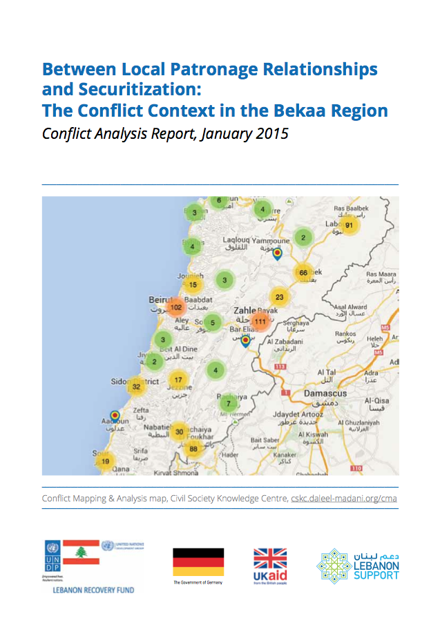 Between Local Patronage Relationships And Securitization: The Conflict Context In The Bekaa Region