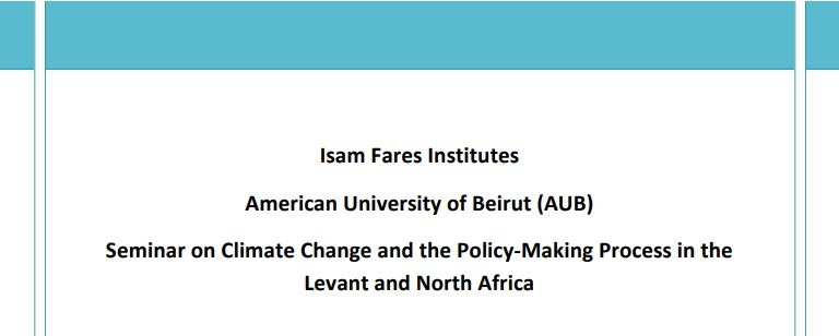 Climate Change, Water And The Policy-Making Process In The Levant And North Africa; The Syria Case  (English Summary) - Ifi Region-Specific Study