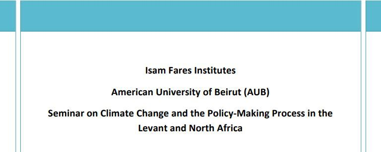 Climate Change In The Levant And North Africa Region: An Assessment Of Implications For Water Resources, Regional State Of Awareness And Preparedness, And The Road Ahead (Full Text) - Ifi Region-Specific Study