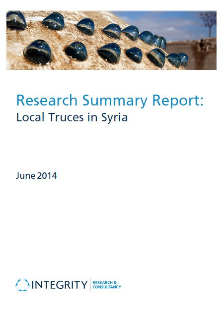 Research Summary Report: Local Truces And Ceasefires