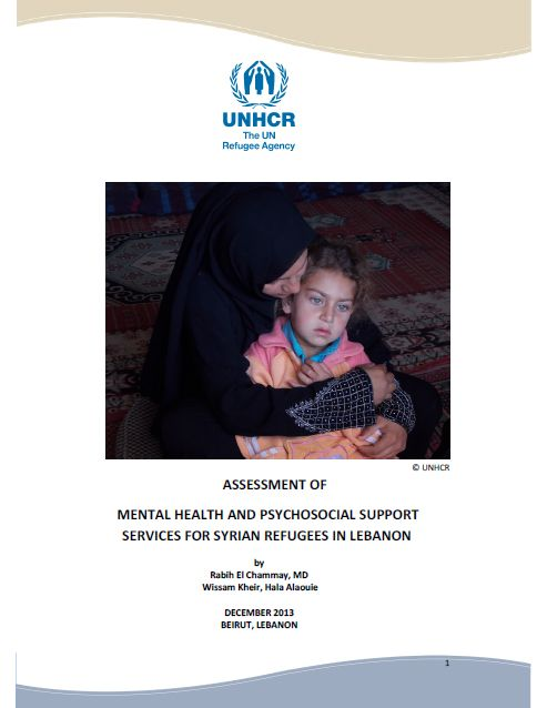 Assessment Of Mental Health And Psychosocial Support Services For Syrian Refugees In Lebanon