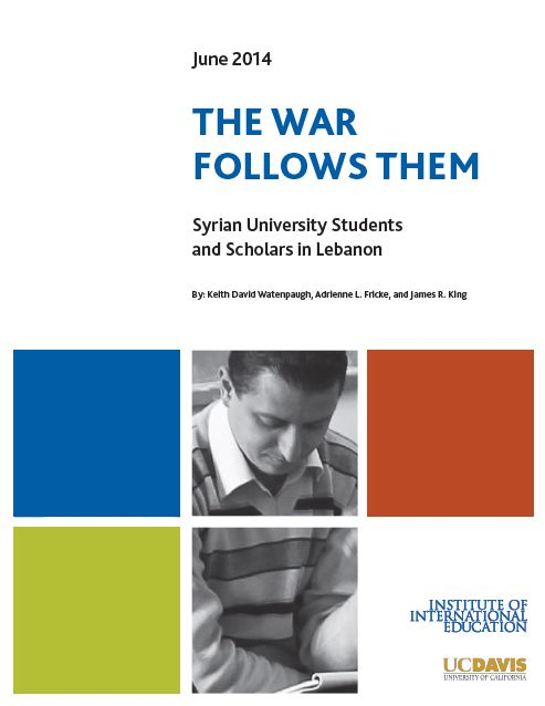 The War Follows Them Syrian University Students & Scholars In Lebanon